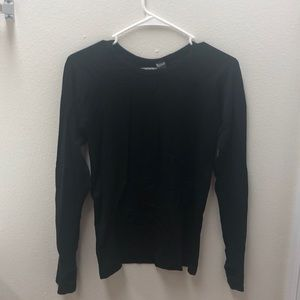 Black long sleeve work out shirt